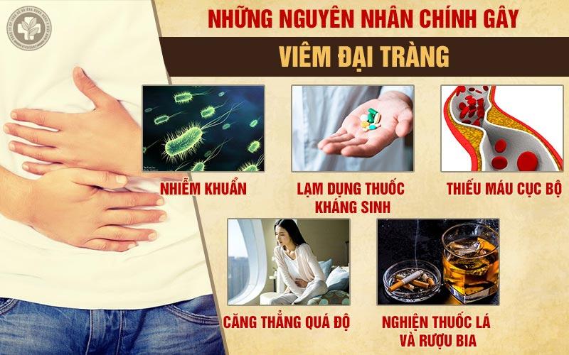 Những nguyên nhân chính gây viêm đại tràng