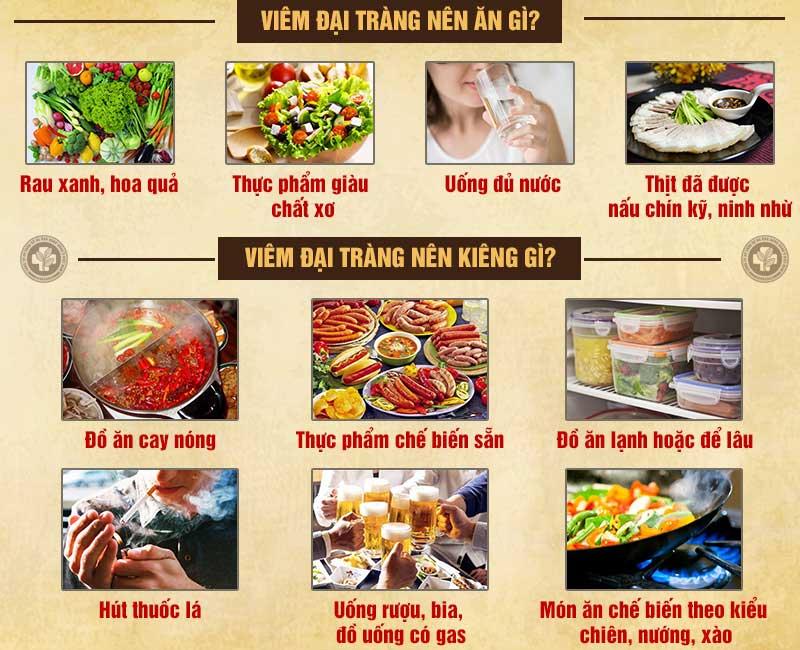 Viêm đại tràng nên ăn gì, kiêng gì?