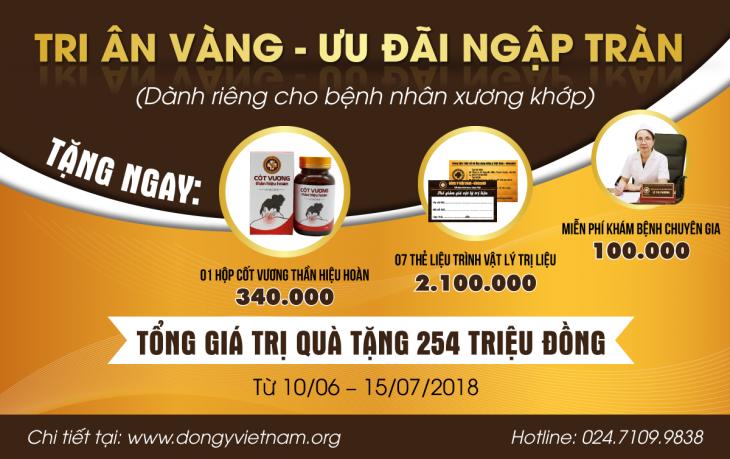 Tri ân vàng - Ưu đãi ngập tràn dongyvietnam.org