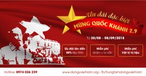 Ưu đãi mừng quốc khánh dongyvietnam.org