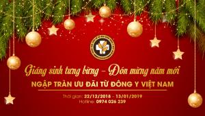 Chương trình ưu đãi Giáng sinh và năm mới Đông y Việt Nam
