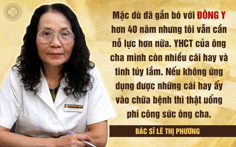 Bác sĩ Lê Phương luôn trăn trở, tìm cách để đưa YHCT vào điều trị bệnh