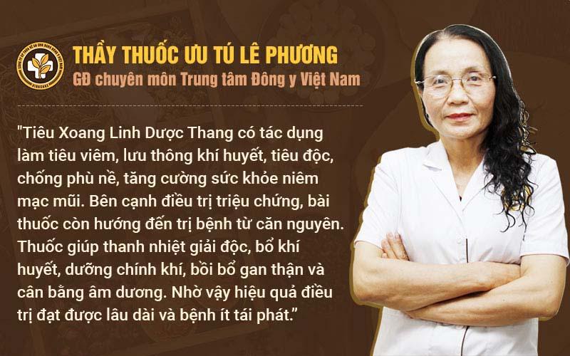 Bác sĩ Phương nhận xét Tiêu Xoang Linh Dược Thang chữa viêm mũi dị ứng