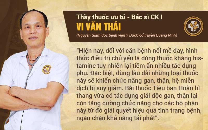 Bác sĩ Thái nhận xét Tiêu Ban Hoàn Bì Thang