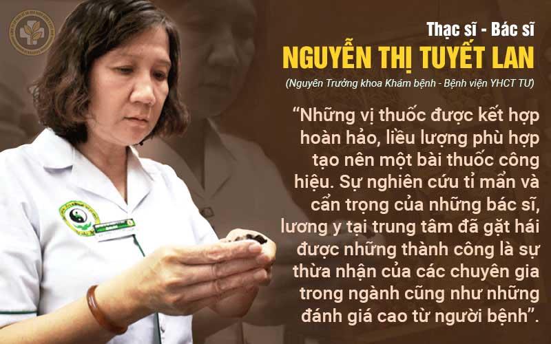 Bác sĩ Tuyết Lan nhận xét về bài thuốc