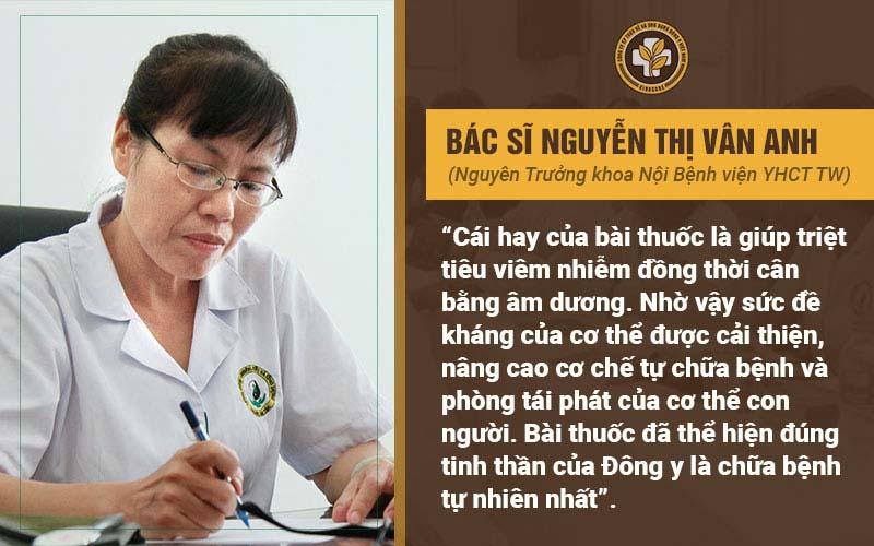 Bác sĩ Vân Anh nhận xét về bài thuốc