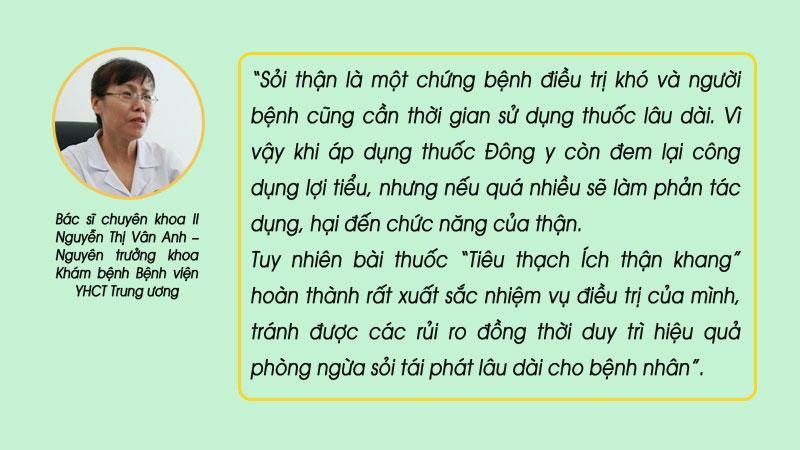 Đánh giá bài thuốc của bác sĩ Nguyễn Thị Vân Anh