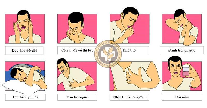 Một số dấu hiệu huyết áp cao