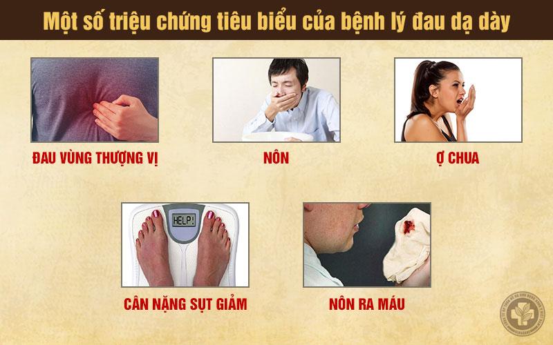 Một số triệu chứng tiêu biểu của bệnh đau dạ dày