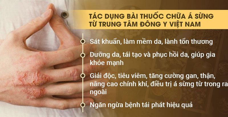 Tác dụng bài thuốc chữa á sừng của Trung tâm Đông y Việt Nam