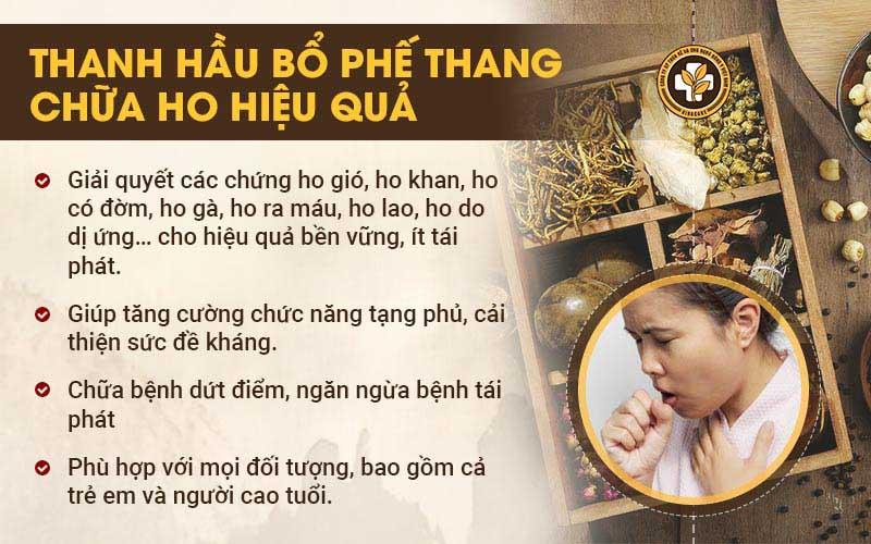 Thanh Hầu Bổ Phế Thang chữa ho