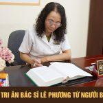 Thư cảm ơn bác sĩ Lê Phương