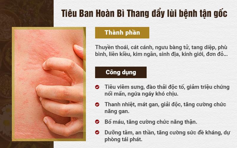 Tác dụng Tiêu Ban Hoàn Bì Thang
