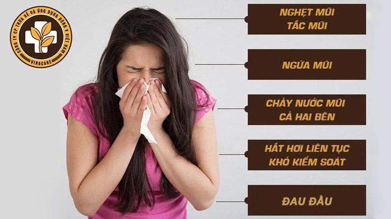 Những triệu chứng viêm mũi dị ứng điển hình nhất