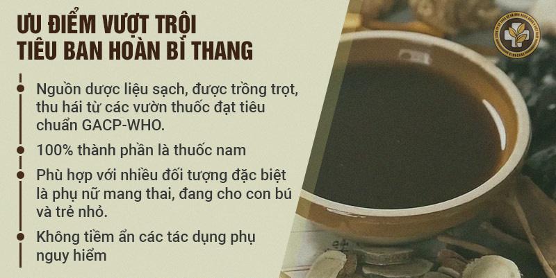 Ưu điểm Tiêu Ban Hoàn Bì Thang