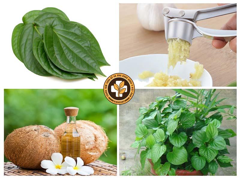 Một số nguyên liệu thường được sử dụng trong các bài thuốc dân gian