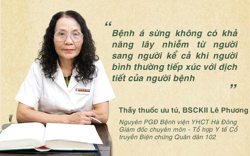 Bác sĩ Lê Phương giải đáp thắc mắc bệnh á sừng có lây không