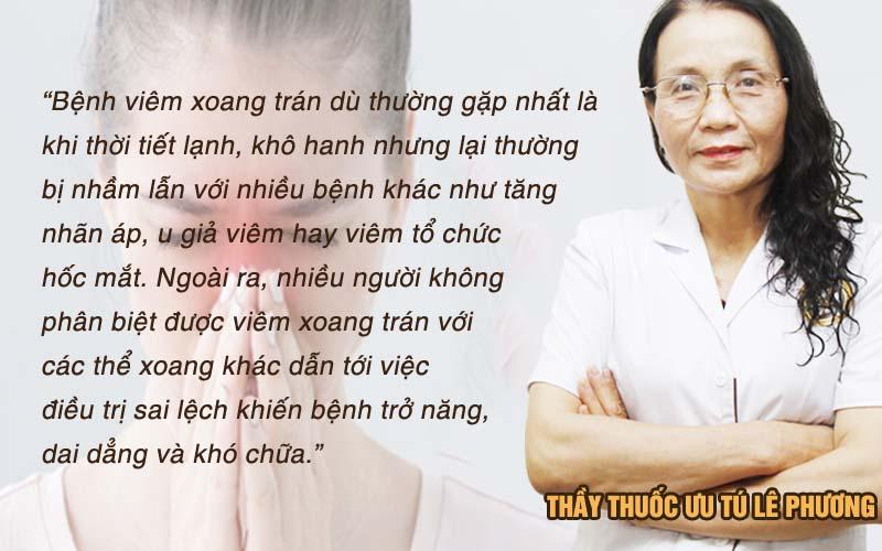 Bác sĩ Phương nhận xét về viêm xoang trán