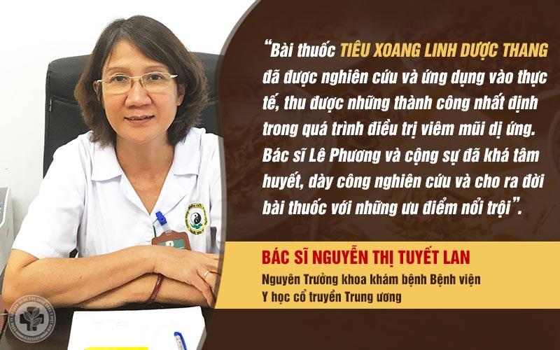 Bác sĩ Tuyết Lan đánh giá về Tiêu Xoang Linh Dược Thang
