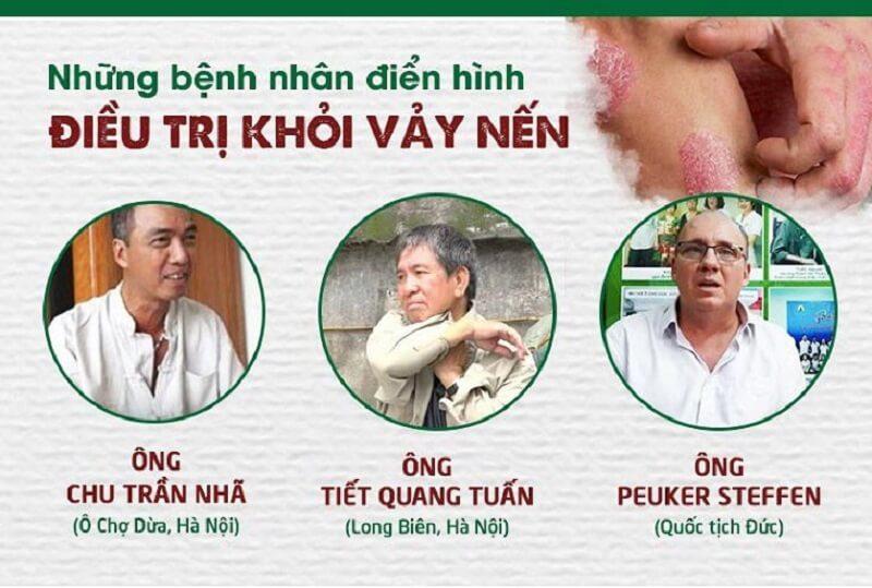 Bệnh nhân điển hình điều trị vảy nến tại TT Thuốc dân tộc