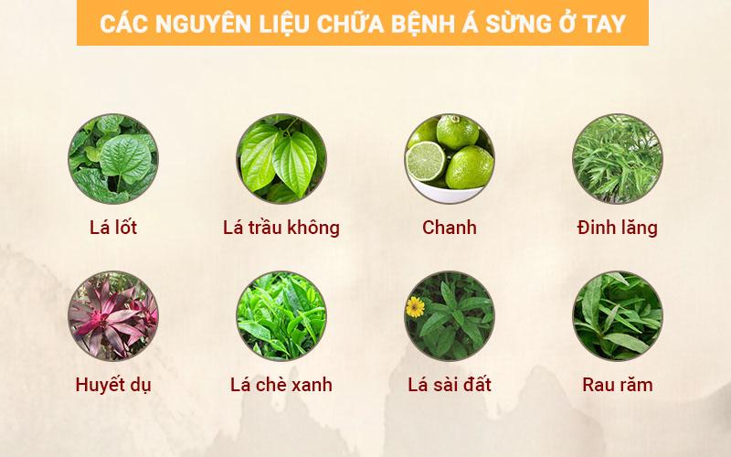 Một số nguyên liệu thảo dược tự nhiên dùng để chữa bệnh á sừng