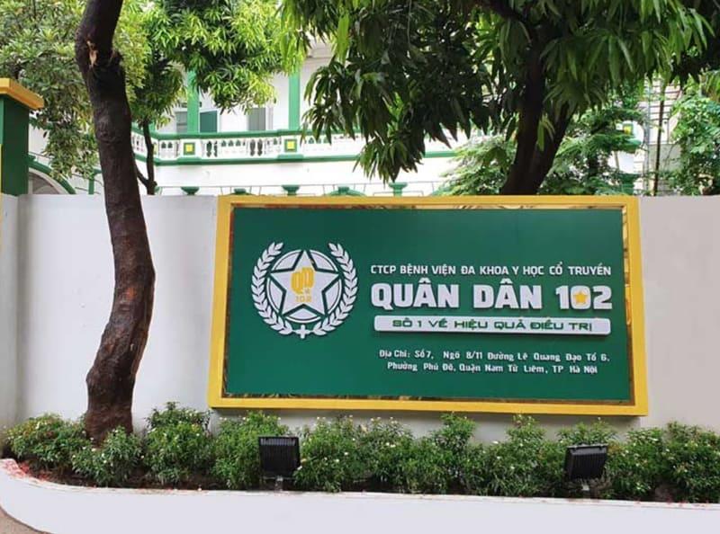 Bệnh viện YHCT Tai Mũi Họng Quân Dân 102 điều trị bệnh lý liên quan đến tai mũi họng, bao gồm cắt amidan
