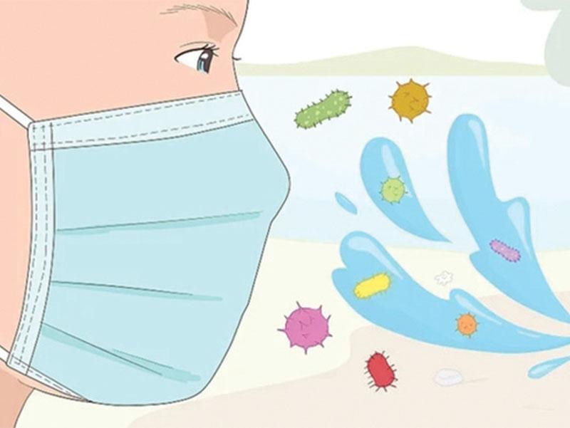 Đeo khẩu trang là cách giúp phòng chống dị nguyên gây bệnh hiệu quả