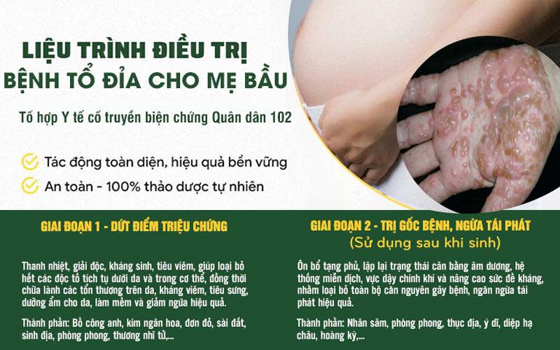 Liệu trình đặc biệt dành riêng cho phụ nữ mang thai bị tổ đỉa