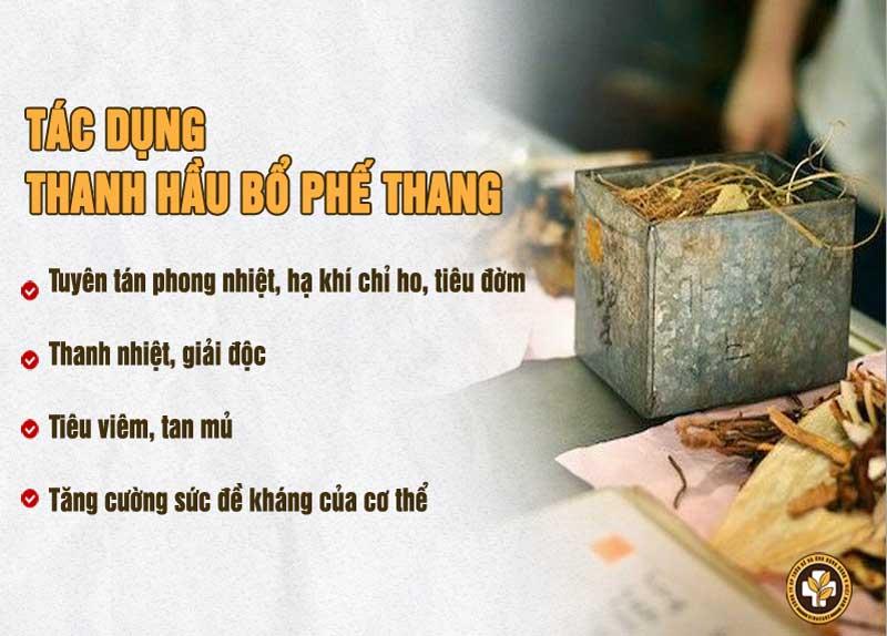 Tác dụng Thanh Hầu Bổ Phế Thang