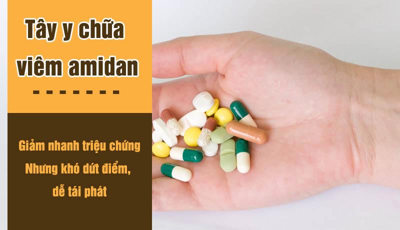 Thuốc Tây y chữa viêm amidan