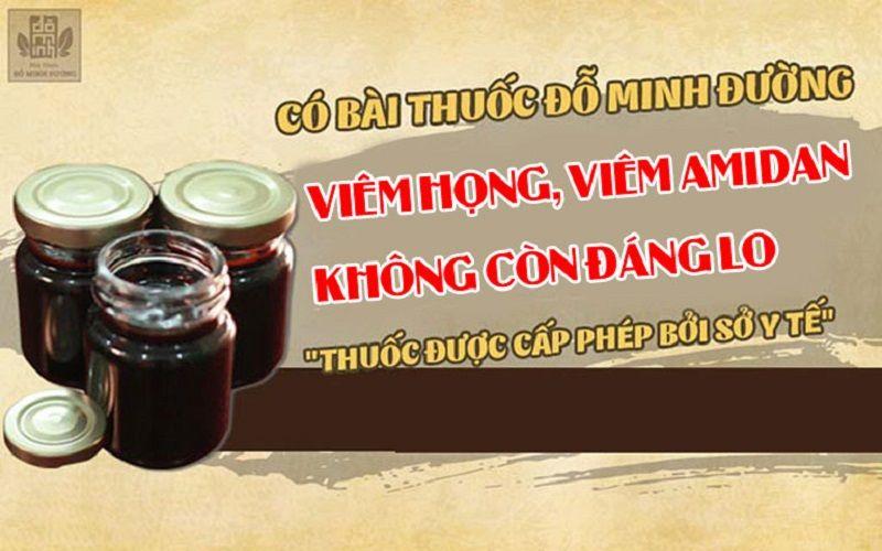 Bài thuốc viêm amidan Đỗ Minh Đường