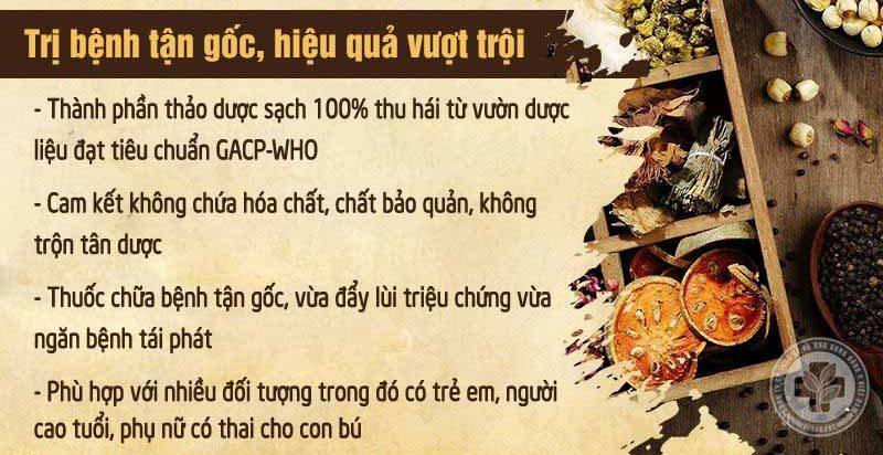 Ưu điểm của bài thuốc chữa viêm xoang tại Bệnh viện Tai Mũi Họng Quân dân 102
