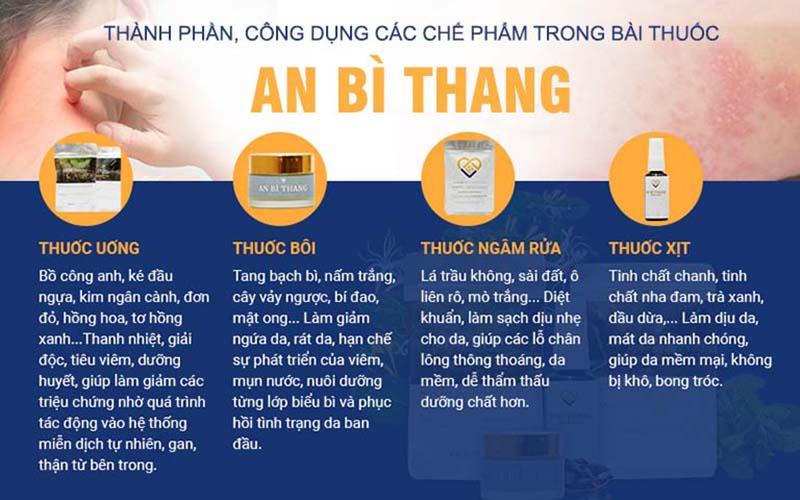 Các chế phẩm tạo nên hiệu quả khác biệt cho bài thuốc An Bì Thang