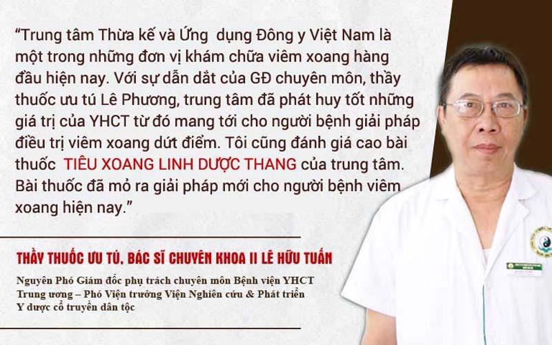 Bác sĩ Lê Hữu Tuấn nhận xét bài thuốc