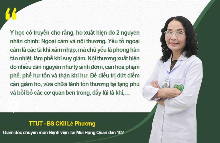 Bác sĩ Lê Phương nói về nguyên lý điều trị ho trong YHCT