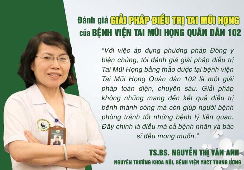 Nhận xét của TS.BS. Nguyễn Thị Vân Anh
