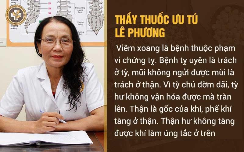 Bác sĩ Lê Phương chia sẻ về viêm xoang