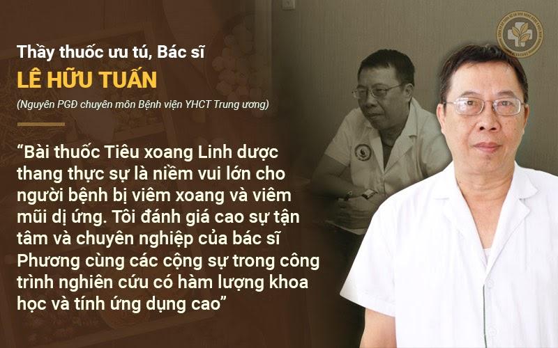 Bác sĩ Tuấn nhận xét bài thuốc Tiêu Xoang Linh Dược Thang