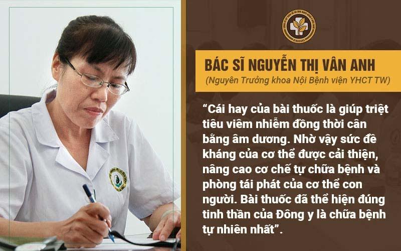 Bác sĩ Vân Anh nhận xét bài thuốc Thanh Hầu Bổ Phế Thang