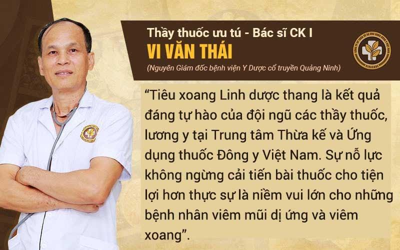 Bác sĩ Vi Văn Thái nhận xét về bài thuốc