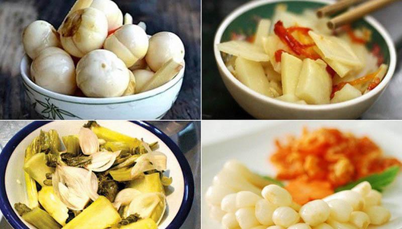 Dừa cà muối chua chứa nhiều axit và muối làm nặng hơn các triệu chứng bệnh hen