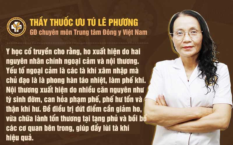 Nguyên tắc chữa ho của bác sĩ Lê Phương