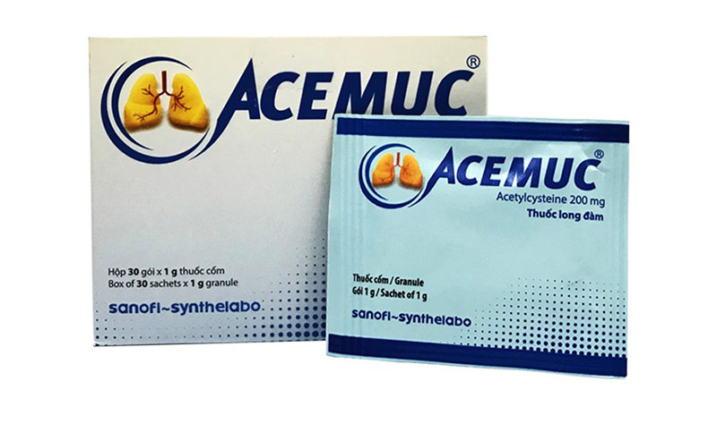 Acemuc (Acetylcystein) được cân nhắc dùng trong các trường hợp viêm phế quản cấp có nhiều đờm