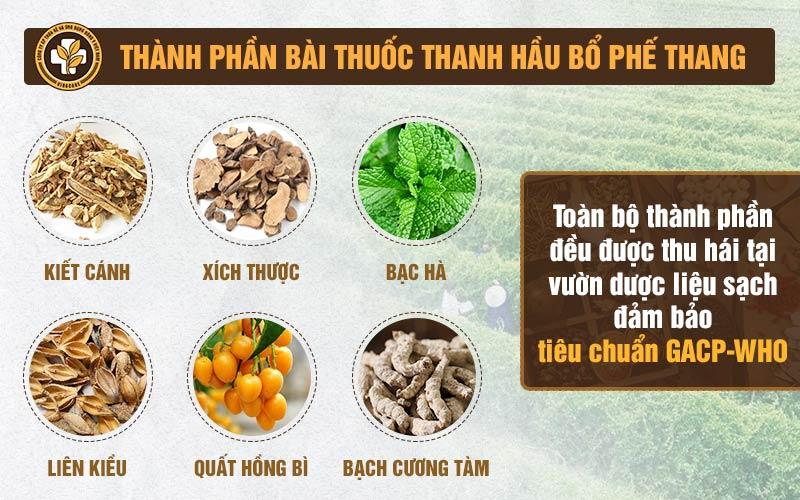 Thanh Hầu Bổ Phế Thang có nguồn gốc từ vườn thảo dược sạch