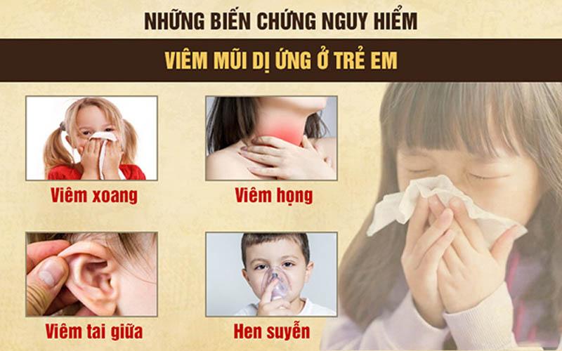 Viêm mũi dị ứng ở trẻ em nếu không được điều trị tốt sẽ gây ra nhiều biến chứng nguy hiểm
