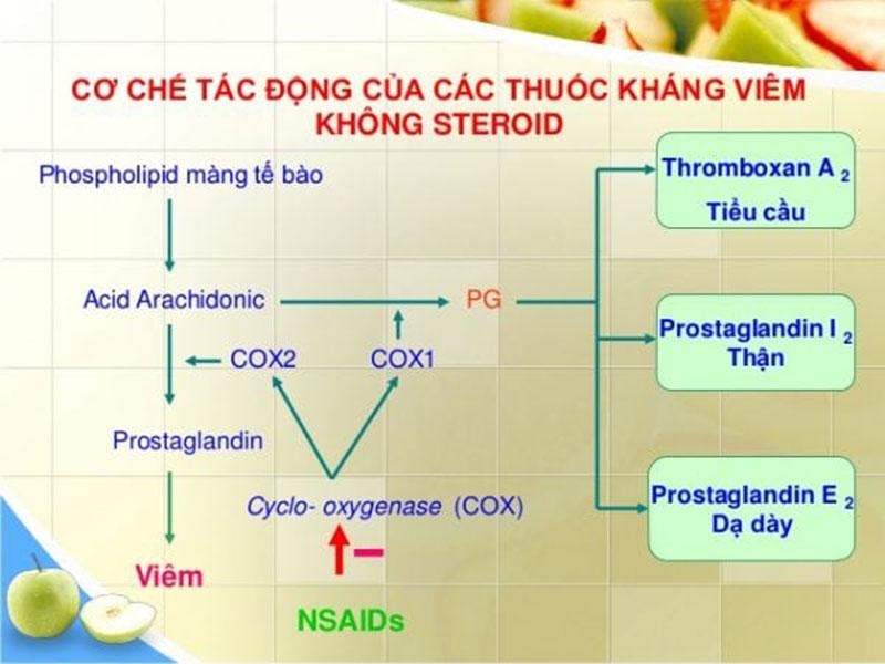 Cơ chế tác dụng chống viêm, giảm phù nề của nhóm thuốc NSAID