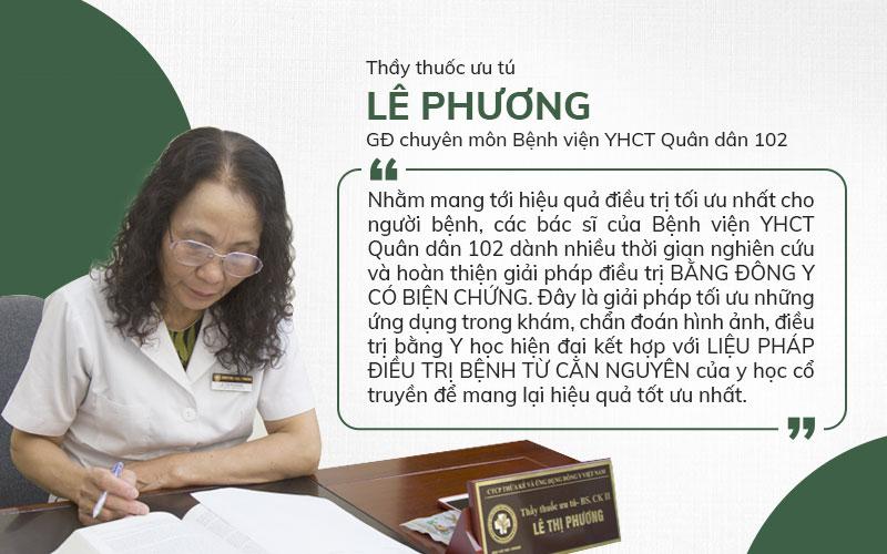 Bác sĩ Phương chia sẻ phương pháp điều trị của bệnh viện