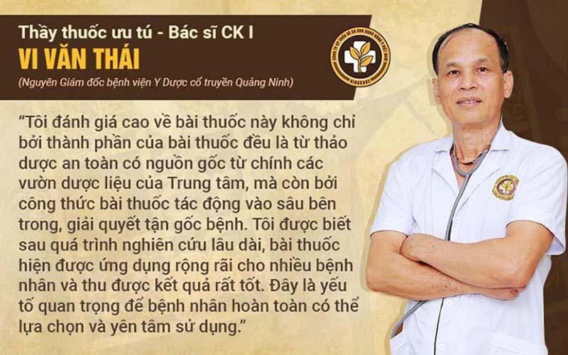 Bác sĩ Vi Văn Thái đánh giá về Thanh hầu bổ phế thang