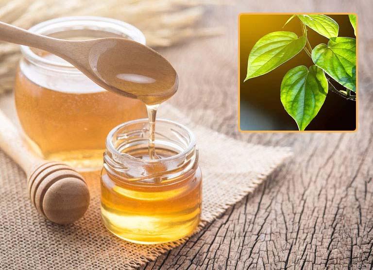 Mật ong giúp hỗ trợ chống viêm, giảm sưng khi điều trị viêm amidan bằng lá trầu không