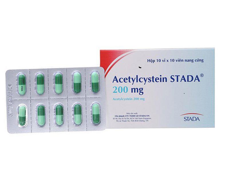 Acetylcystein là thuốc long đờm phổ biến và được sử dụng thường xuyên trong điều trị